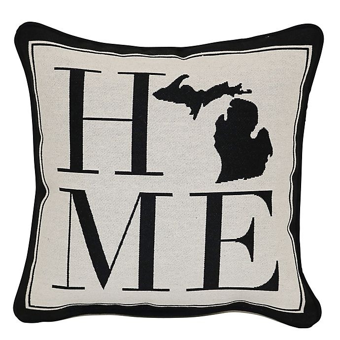 Alternate image 1 for Brentwood Originals 12-Inch x 12-Inch Michigan Rustic Home State Throw Pillow