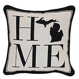 Brentwood Originals 12-Inch x 12-Inch Michigan Rustic Home State Throw Pillow