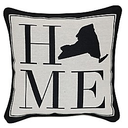 Brentwood Originals 12-Inch x 12-Inch New York Rustic Home State Throw Pillow