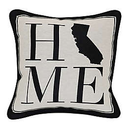 Brentwood Originals 12-Inch x 12-Inch Rustic Home State Throw Pillow