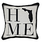 Brentwood Originals 12-Inch x 12-Inch Florida Rustic Home State Throw Pillow