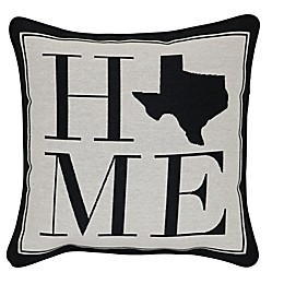 Brentwood Originals 12-Inch x 12-Inch Texas Rustic Home State Throw Pillow