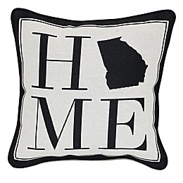 Brentwood Originals 12-Inch x 12-Inch Georgia Rustic Home State Throw Pillow