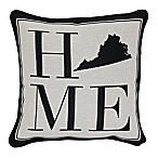 Brentwood Originals 12-Inch x 12-Inch Virginia Rustic Home State Throw Pillow