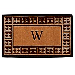Home & More Grecian Monogrammed  W  18-Inch x 30-Inch Thick Door Mat in Natural