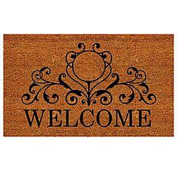 Home & More Kingston Welcome Door Mat in Natural/Black