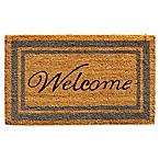 Home & More 24-Inch x 36-Inch Periwinkle Border Welcome Door Mat in Natural