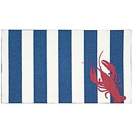 Nourison Enhance Lobster Stripe 26-Inch x 45-Inch Door Mat