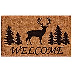 Home & More 24-Inch x 36-Inch Elk Forest Welcome Mat in Natural/Black