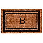 Home & More Border Monogrammed  B  18-Inch x 30-Inch Door Mat in Black