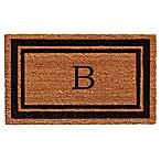 Home & More Border Monogrammed  B  18-Inch x 30-Inch Door Mat in Black