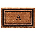 Home & More Border Monogrammed  A  18-Inch x 30-Inch Door Mat in Black