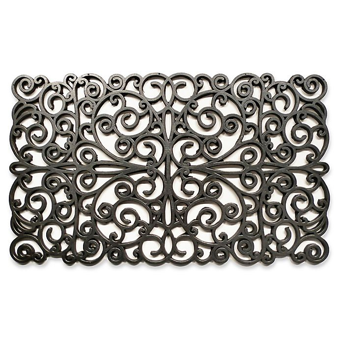 Alternate image 1 for Home & More 18-Inch x30-Inch Scroll Door Mat in Silver