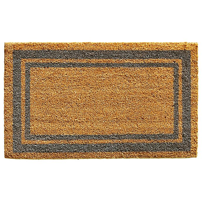 Alternate image 1 for Home & More Periwinkle Border 18-Inch x 30-Inch Door Mat in Natural