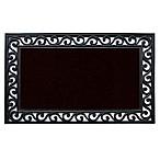Home & More Midnight 18-Inch x 30-Inch Door Mat in Black