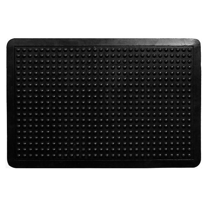 Home Amp More Anti Fatigue Rubber Door Mat In Black Bed