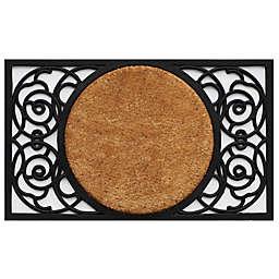 Home More Armada Circle Door Mat In Natural Black