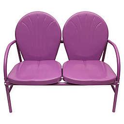 Rich Pacific Tulip Retro Metal Double Chair