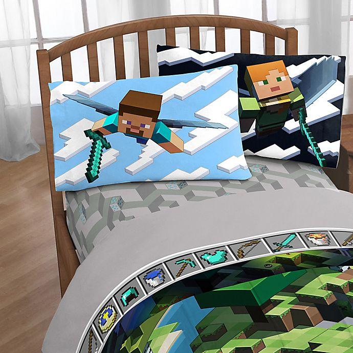 Minecraft Full Sheet Set In Green Bed Bath Amp Beyond