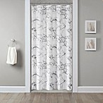 Marble 54-Inch x 78-Inch Shower Curtain in Silver