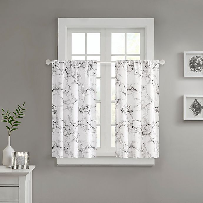 Alternate image 1 for Marble Window Curtain Panel Pair