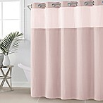 Hookless® Waffle Fabric 71-Inch x 74-Inch Shower Curtain in Rosewater