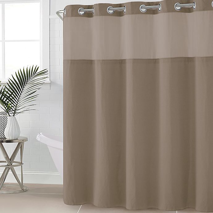 Hookless Waffle Fabric Shower Curtain Bed Bath And Beyond Canada