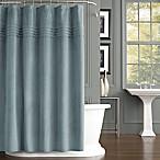 J. Queen New York Estella Velvet Shower Curtain in Aqua