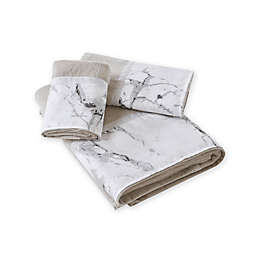 Marble Hand Towel in Silver