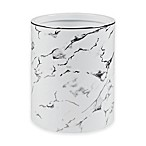 Marble Wastebasket in Silver