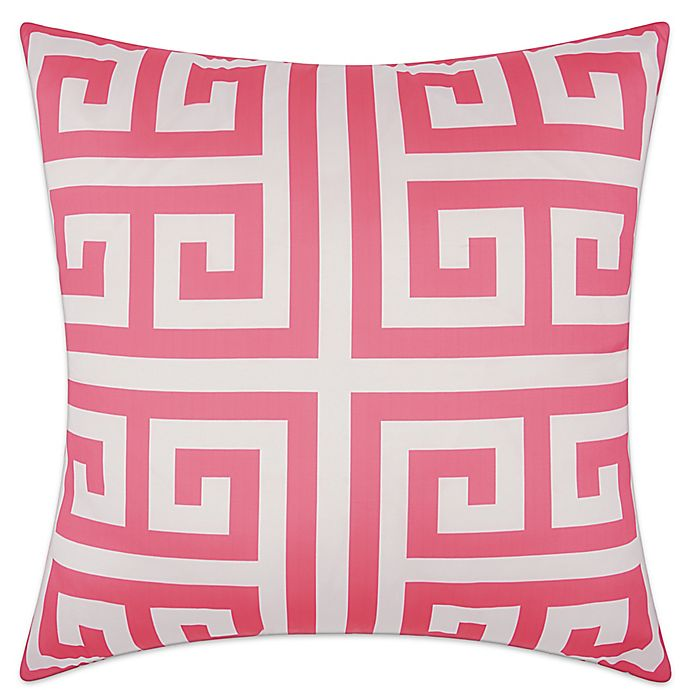 Alternate image 1 for Mina Victory Greek Key Geometric Square Outdoor Pillow