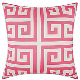 Mina Victory Greek Key Geometric Square Outdoor Pillow