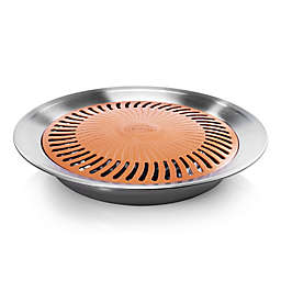 Gotham Steel Nonstick 13-Inch Smokeless Stovetop Grill in Copper/Silver