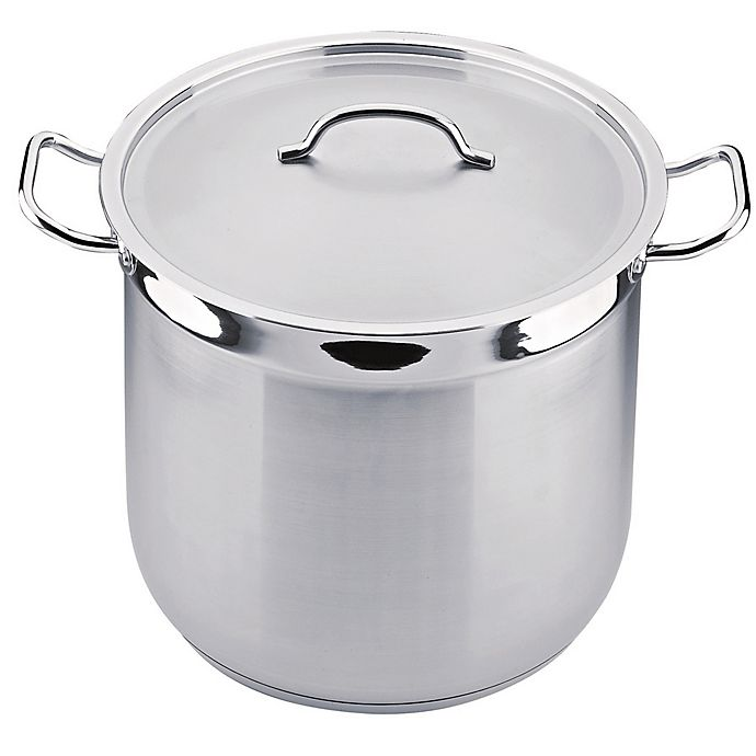 Alternate image 1 for BergHOFF® Hotel Line 16 qt. Covered Stock Pot