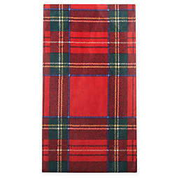 Caspari Royal Plaid 15-Count Paper Guest Towels in Red
