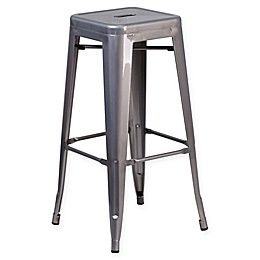 Flash Furniture Backless Bar Stool in Clear
