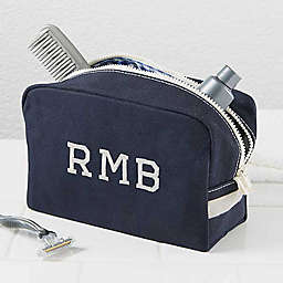 Classic Canvas Embroidered Travel Case in Navy