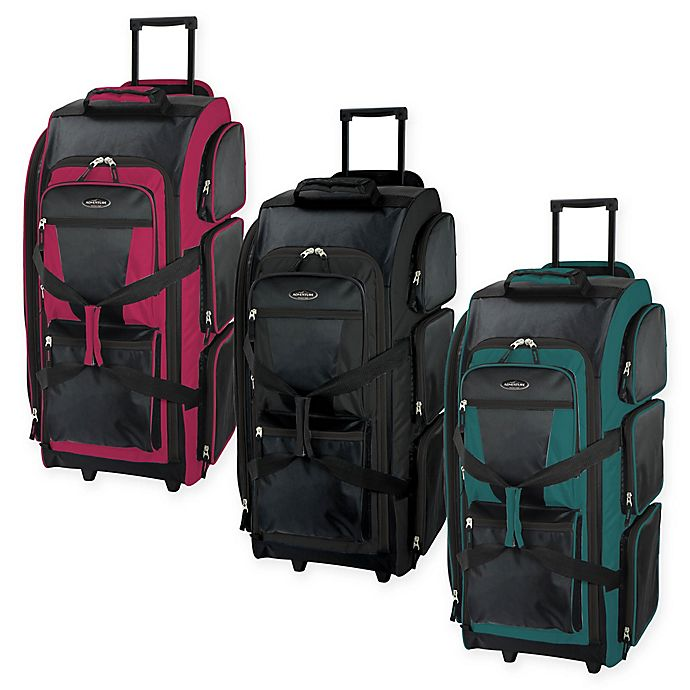 Alternate image 1 for Traveler's Club Luggage 30-Inch Rolling Upright Duffle