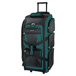 Traveler's Club Luggage 30-Inch Rolling Upright Duffle in Teal