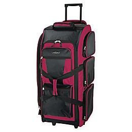 Traveler's Club Luggage 30-Inch Rolling Upright Duffle