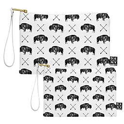 Deny Designs Little Arrow Design Co Great Buffalo Pouch in Black