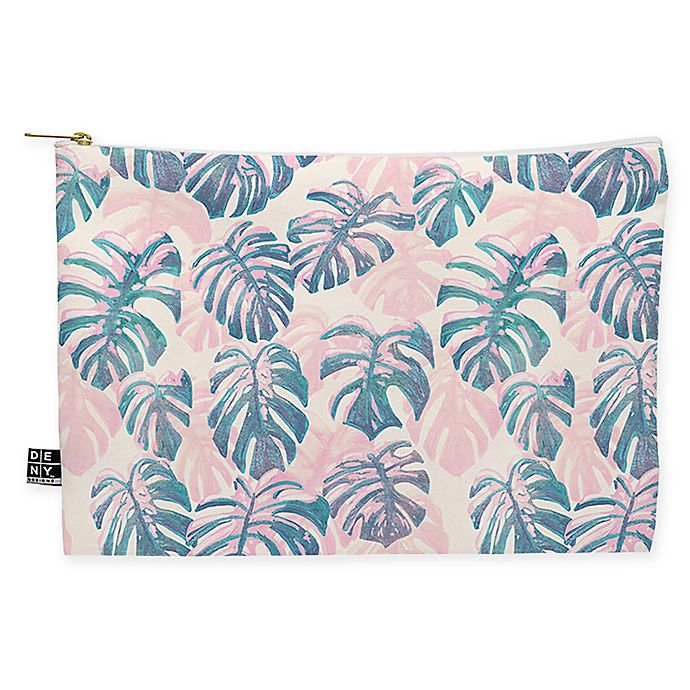 Alternate image 1 for Deny Designs Dash and Ash Pinky Palms Medium Pouch in Pink
