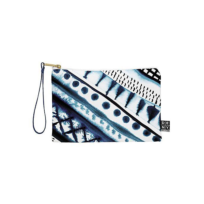 Alternate image 1 for Deny Designs Amy Sia Indigo Stripe Small Pouch in Blue