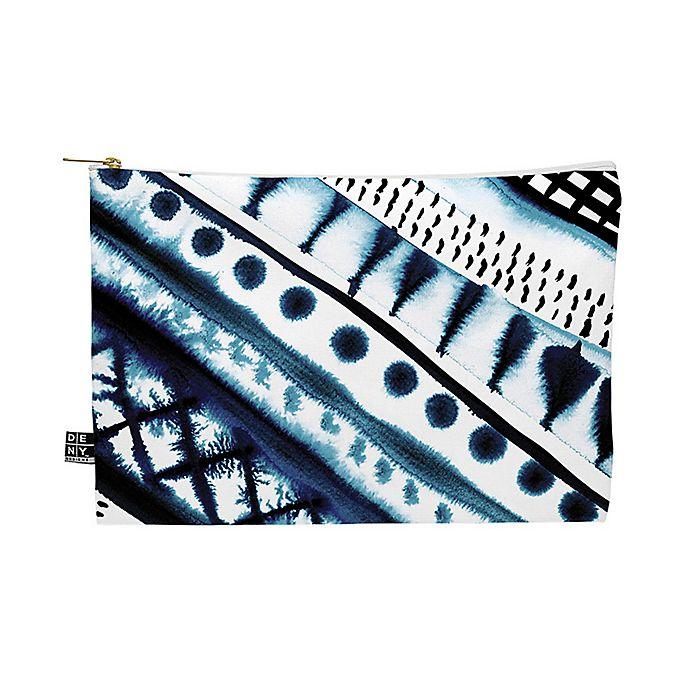 Alternate image 1 for Deny Designs Amy Sia Indigo Stripe Medium Pouch in Blue