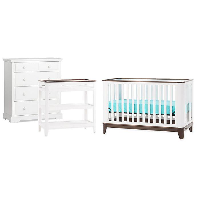 Child Craft Studio Nursery Furniture Collection In Matte White Slate