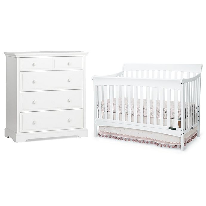 Child Craft Coventry Nursery Furniture Collection In Matte White