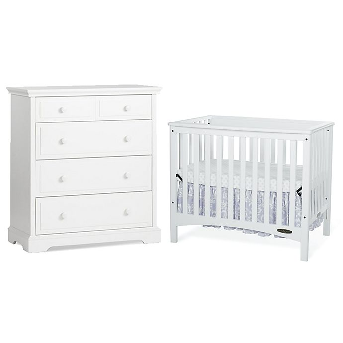 Child Craft London Euro Nursery Furniture Collection In White