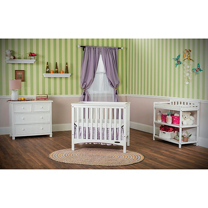 Child Craft London Euro 2 In 1 Mini Crib In White Bed