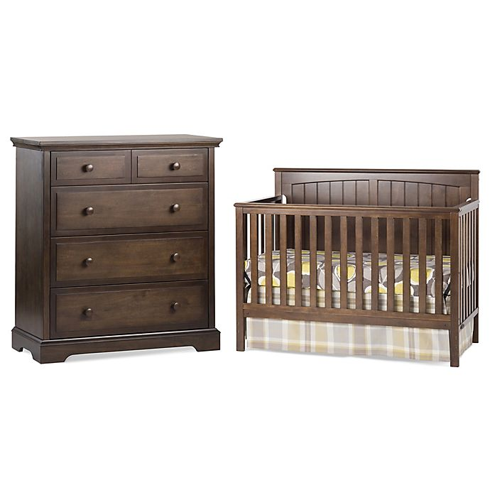 Alternate image 1 for Craft Child™ Sheldon 4-in-1 Convertible Crib in Slate Brown