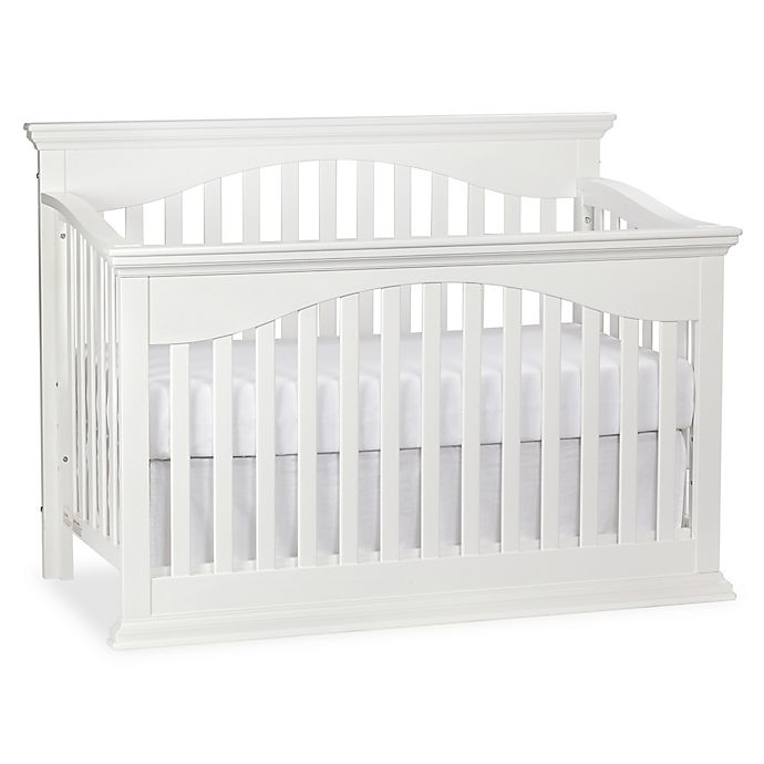 Bailey 4 In 1 Lifetime Convertible Crib In White Bed